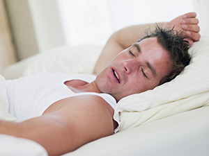 Man who needs snoring treatment