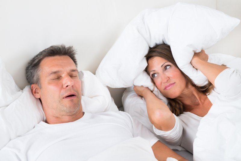 Snoring can create relationship problems